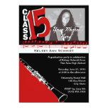 Graduation Music Clarinet 2015 5x7 Paper Invitation Card