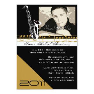 Graduation Music/ Saxophone Card