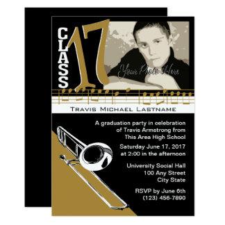 Graduation Music Trombone Card