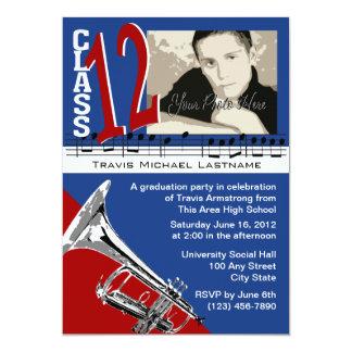 Graduation Music Trumpet Card