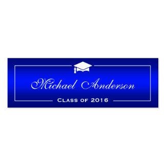 Graduation Name Card - Classy Plain Blue Gradient
