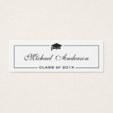 Graduation Name Card - Elegant Classic Insert Card at Zazzle