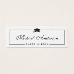 Graduation Name Card - Elegant Classic Insert Card