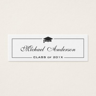CardHunter Graduation Name Card - Elegant Classic Insert Card