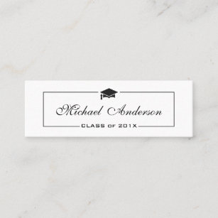 graphic regarding Free Printable Graduation Name Cards named Commencement Standing Card - Exquisite Clic Add Card
