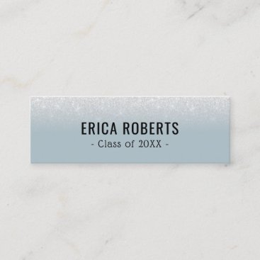 Graduation Name Card Modern Dusty Blue