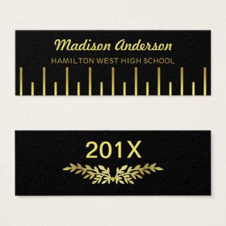 Graduation Name Card Senior Year Insert Gold Deco