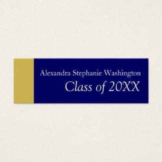 Graduation Name Card Set, Blue/Gold Keepsake