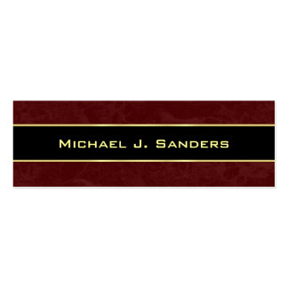 Graduation Name Cards - Burgundy and Black Double-Sided Mini Business Cards (Pack Of 20)