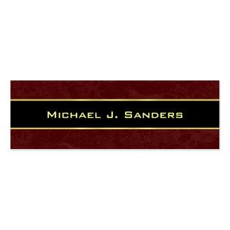 Graduation Name Cards - Burgundy and Black Business Card Templates