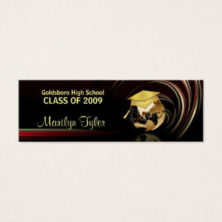 Graduation Name Cards - Class of 2009 - Gold