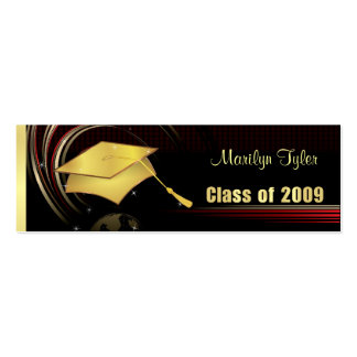 Graduation Name Cards - Class of 2009 - Gold Double-Sided Mini Business Cards (Pack Of 20)