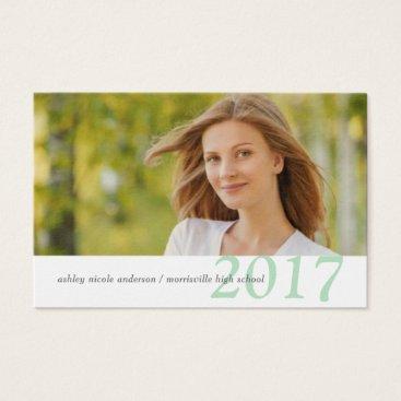 Beach Themed Graduation Name Cards Easy-Edit Photo & Class Year
