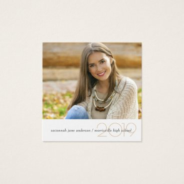 Beach Themed Graduation Name Cards Easy-Edit Photo Square