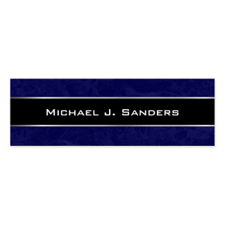 Graduation Name Cards - Marble Blue and Black Business Card Templates