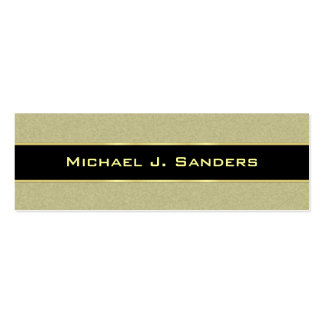 Graduation Name Cards - Saddle Tan and Black Business Card