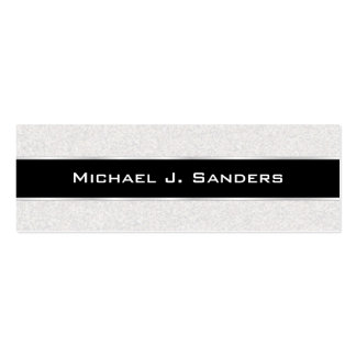 Graduation Name Cards - Silversand and Black Business Card Template