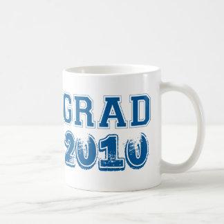 Graduation navy blue class year 2010 custom photo coffee mug
