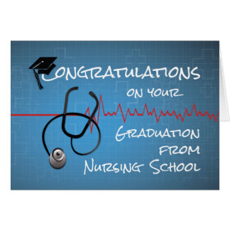 Graduation Nursing School Congratulations Stethosc Card