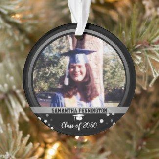 Graduation One Photo Confetti Keepsake Ornament