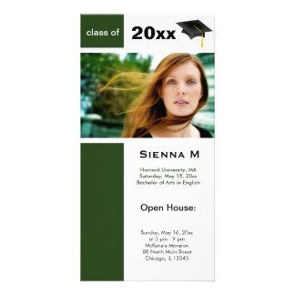 Graduation Open House (Dark Green) Photo Card