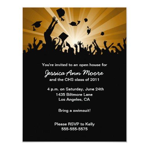 Graduation open house invitation zazzle for Graduation open house invitation