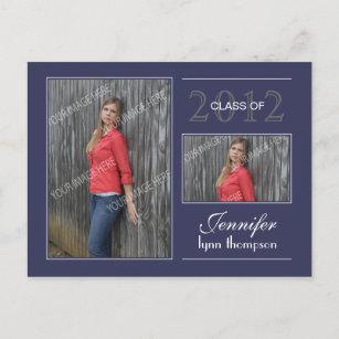 graduation invitation postcards zazzle