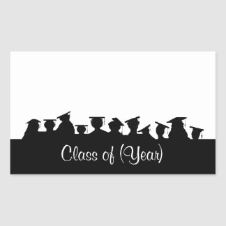 Graduation or Reunion Name Tags with Silhouettes Stickers