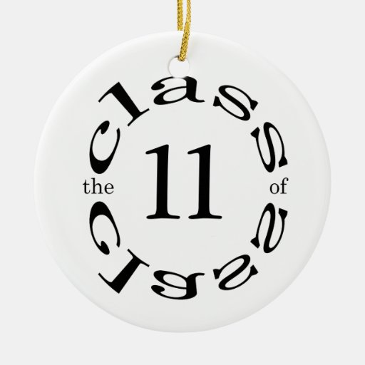 graduation Double-Sided ceramic round christmas ornament