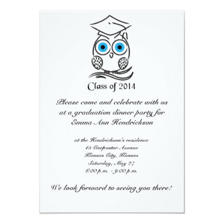 Graduation owl custom invites