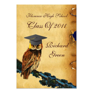 GRADUATION OWL PARCHMENT WAX SEAL MONOGRAM Felt Card