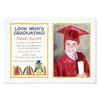 Graduation Owl Photo Invitation