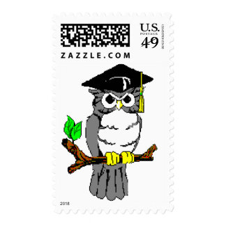Graduation Owl Postage Stamps
