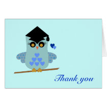 Graduation Owl Thank You Card