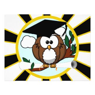Graduation Owl w/ School Colors Black and Gold Flyer
