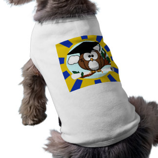 Graduation Owl With Blue And Gold School Colors T-Shirt