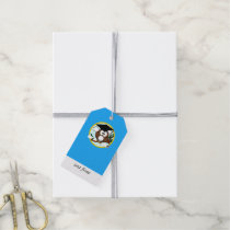 Graduation Owl With Cap & Diploma - Blue and Gold Gift Tags