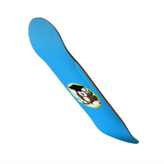 Graduation Owl With Cap & Diploma - Blue and Gold Skate Board