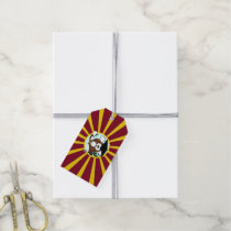 Graduation Owl With Red And Gold School Colors Gift Tags
