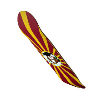 Graduation Owl With Red And Gold School Colors Skate Board Decks