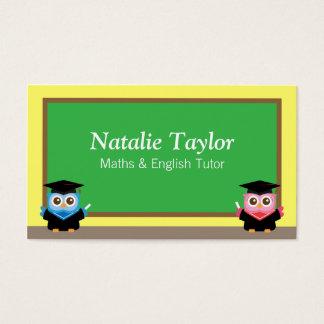Graduation Owls, Personal Tutor or Teacher Business Card