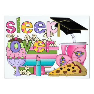 Graduation Pajama Party / Sleep Over - SRF Card