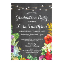 Graduation Party Aloha Tropical Luau Lights Invite