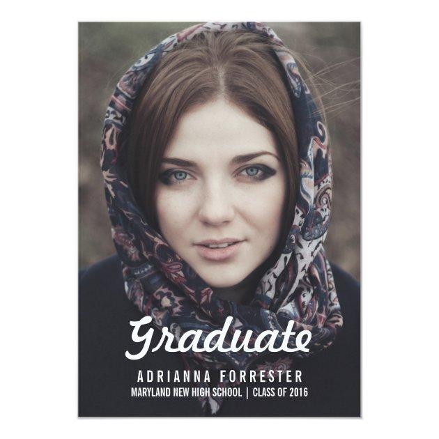 Graduation Party | Chalkboard 5x7 Paper Invitation Card