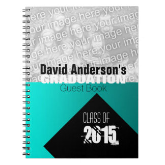 Graduation Party Class of 2015 Custom Guest Book 1 Spiral Note Book