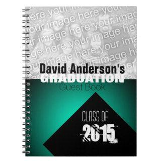 Graduation Party Class of 2015 Custom Guest Book 2 Spiral Notebook