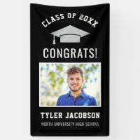 Graduation Party Class of 2018 | Black and Silver Banner