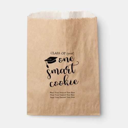 Graduation Party Cookie Bags - One Smart Cookie