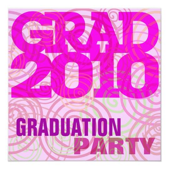 Graduation Party Girly Pink Invitation