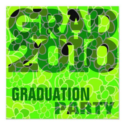 Graduation Party Go Green Invitation
